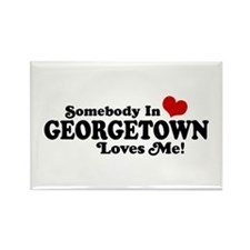 Somebody in Georgetown Loves Me Rectangle Magnet