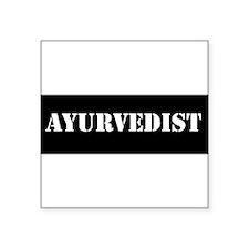 "Ayurvedist Square Sticker 3"" x 3"""