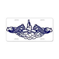 Submarine Dolphins Aluminum License Plate