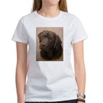 Chocolate Lab Portrait Painting Women's T-Shirt