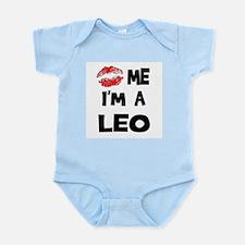 Kiss Me I'm a Leo Infant Creeper