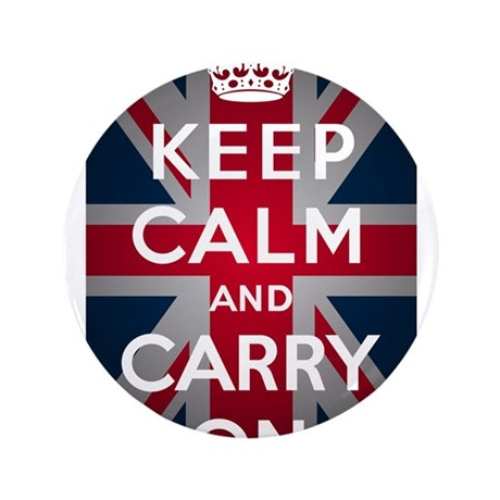 "Keep Calm And Carry On 3.5"" Button (100 pack)"