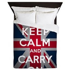 Keep Calm And Carry On Queen Duvet