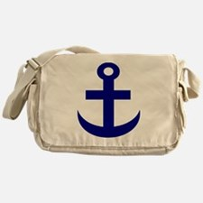 Anchor or Mariners Cross Blue Messenger Bag
