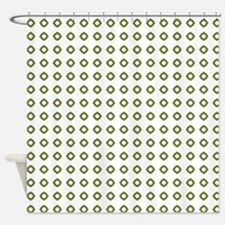 Geo Mod Green Shower Curtain
