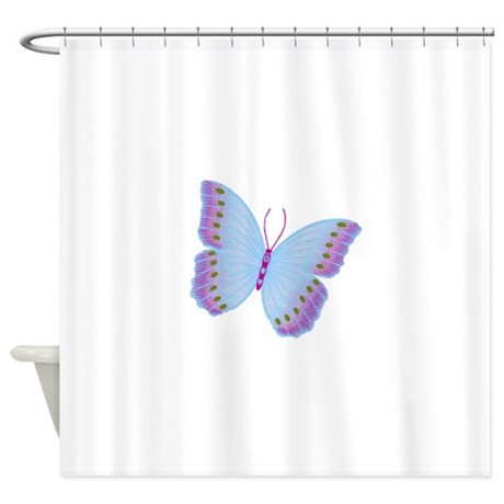 Purple Blue Butterfly Shower Curtain By Holidaylittletreasures
