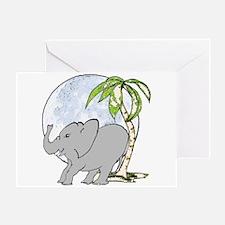 Elephant rub Greeting Card