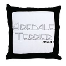 Airedale Terrier Owner Throw Pillow