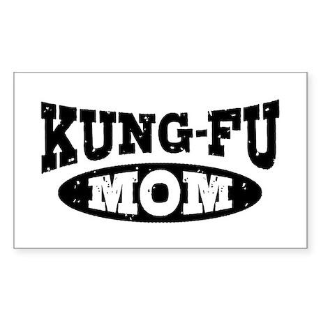 Kung Fu Mom Sticker (Rectangle)