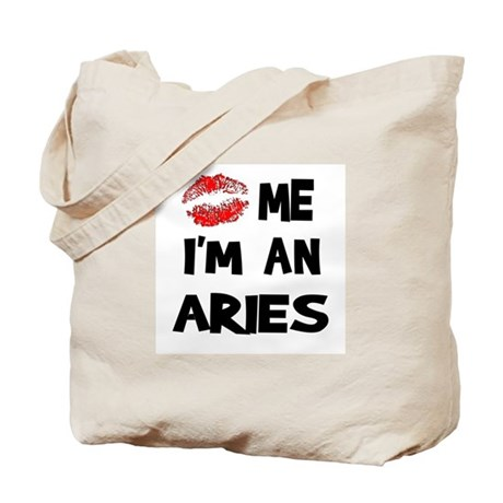 Kiss Me I'm an Aries Tote Bag