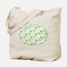 Peacock Feather Frame Tote Bag