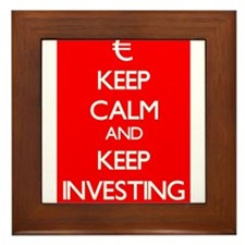 Keep Calm And Keep Investing Framed Tile