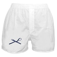 Navy Blue Bow Boxer Shorts