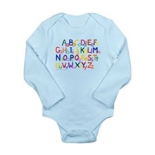 Alphabet Long Sleeve Infant Bodysuit