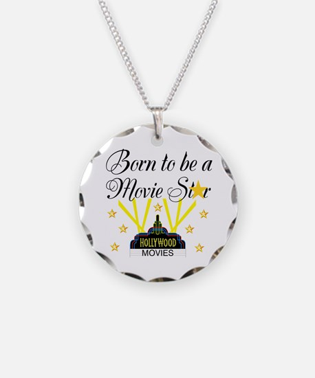 MOVIE STAR Necklace Circle Charm