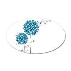 Wishing Weeds 20x12 Oval Wall Decal
