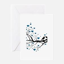 Love Birds Branch Greeting Card