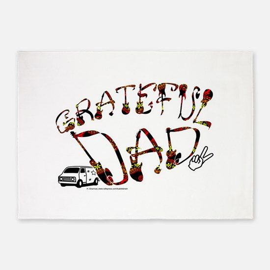 Grateful Dad - 5'x7'Area Rug
