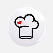 """Chef hat cook 3.5"""" Button"""