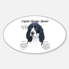 Black English Springer Oval Decal
