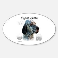 English Setter Oval Decal