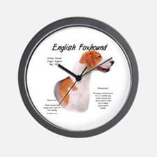 English Foxhound Wall Clock