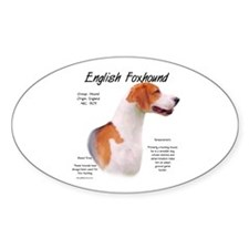 English Foxhound Oval Decal