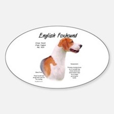 English Foxhound Sticker (Oval)