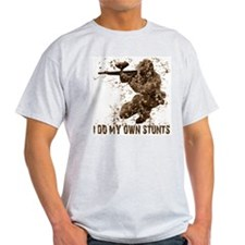 Paintball My Own Stunts Ash Grey T-Shirt