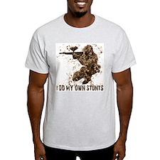 Paintball My Own Stunts Ash Grey T-Shirt