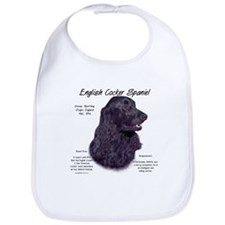Black English Cocker Spaniel Bib