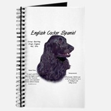 Black English Cocker Spaniel Journal