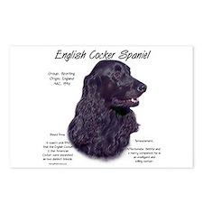Black English Cocker Spaniel Postcards (Package of