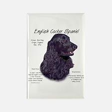 Black English Cocker Spaniel Rectangle Magnet
