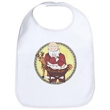 Santa & Baby Jesus Bib
