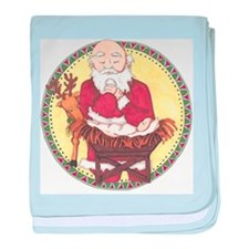 Santa & Baby Jesus baby blanket