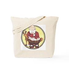 Santa & Baby Jesus Tote Bag