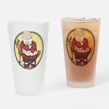 Santa & Baby Jesus Drinking Glass