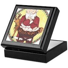 Santa & Baby Jesus Keepsake Box