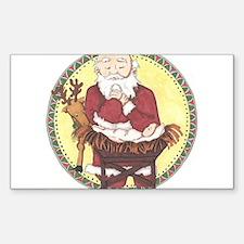 Santa & Baby Jesus Decal