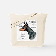 Black Doberman Pinscher Tote Bag