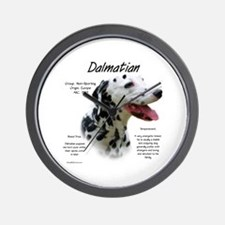 Black Dalmatian Wall Clock