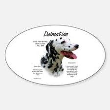 Dalmatian (black spots) Sticker (Oval)