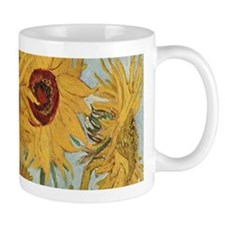 Van Gogh Sunflowers Wraparound Small Mugs