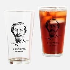 Walt Whitman Drinking Glass
