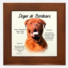 Dogue de Bordeaux Framed Tile
