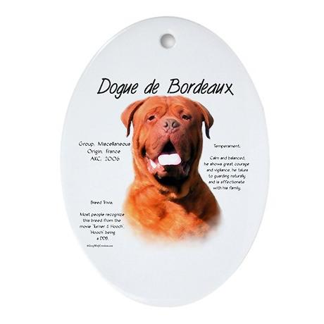 Dogue de Bordeaux Oval Ornament