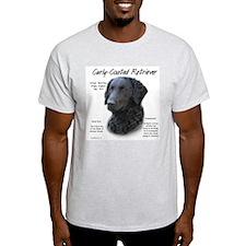 Curly-Coated Retriever Ash Grey T-Shirt
