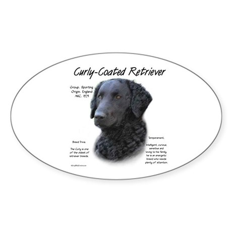 Curly-Coated Retriever Oval Sticker