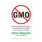 "GMO-free Zone garden sign, 3"" x 5"""